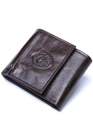 Newchic Vintage Genuine Leather Cowboy Trifold Wallet For Men