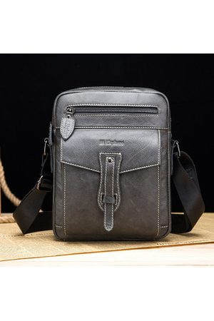 Newchic Ekphero Genuine Leather Messenger Bags Vintage Laptop Bags