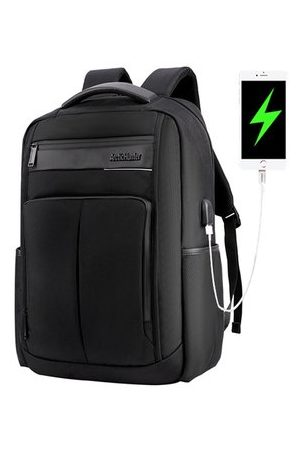 Newchic Men Laptop Bags - USB Charging Nylon Waterproof 18 Inch Laptop Bag Backpack