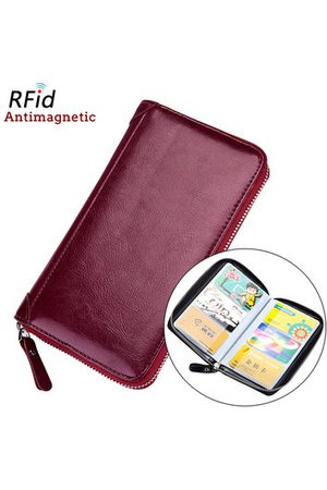 Newchic Women Wallets - RFID Antimagnetic Leather 60 Card Slots Card Holder