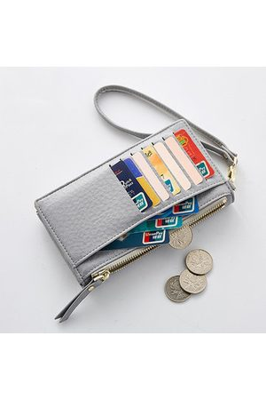 Newchic Women PU Leather Long Wallet Solid Phone Bag 7 Card Slot