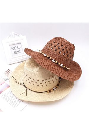 Newchic Men Hats - Hollow Straw Cowboy Hat Vintage Fishing Hat