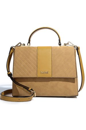 Newchic Women Shoulder Bags - Kadell Scrub Leather Twill Design Clamshell For Lady