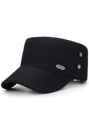 Newchic Men Hats - Men Breathable Cotton Sunshade Flat Top Caps