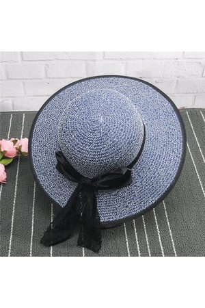 Newchic Women Hats - Summer Folding Straw Hat Big Wide Brim Beach Sun Hat