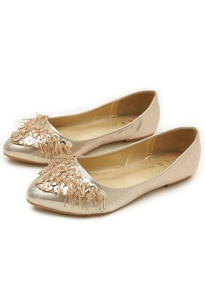 Newchic Plus Size Bright Surface Comfortable Rhinestone Flat Loafers
