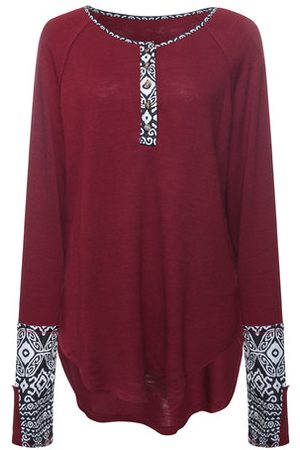 Newchic Long Sleeve Printed Casual T-shirts