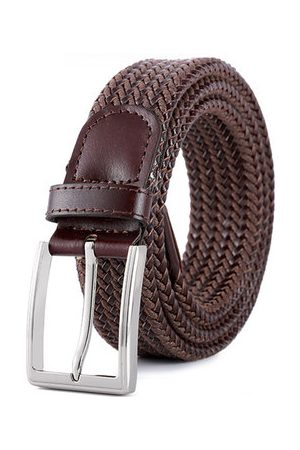 Newchic Vintage Weaving Leather Pin Buckle Belt