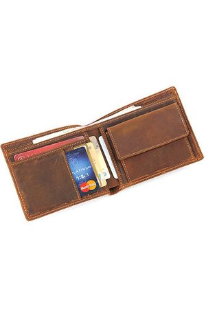 Newchic Genuine Leather Vintage Coin Pocket Wallet For Men
