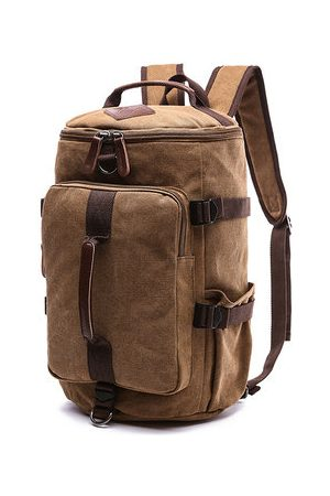 Newchic Canvas Large Capacity Travel Outdoor Backpack For Men