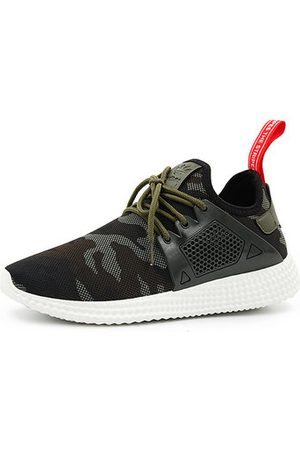 Newchic Men Casual Shoes - Men Camouflage Pattern Breathable Lace Up Casual Sneakers