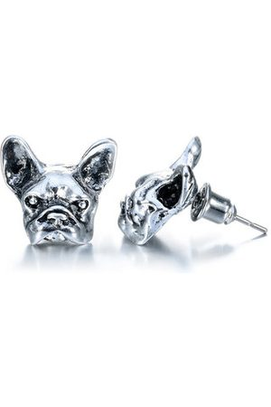 Newchic Unisex French Bulldog Stud Earrings