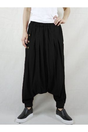 Newchic Side Button Women Harem Pants