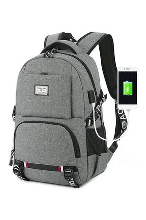 Newchic Men Laptop Bags - Business Casual USB Charging 18 Inches Laptop Bag Backpack
