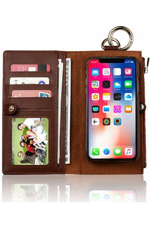 Newchic Women Phone Cases - Genuine Leather Phone Cases For iphone 3 Card Slot Wallet
