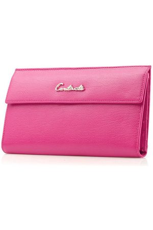 Newchic Women Trifold Genuine Leather 18 Card Slot Long Wallet