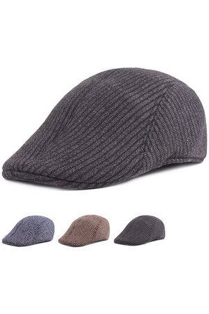 Newchic Solid Color Stripe Cotton Beret Caps
