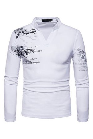 Newchic 3D Printing Slim Fit Casual T shirt