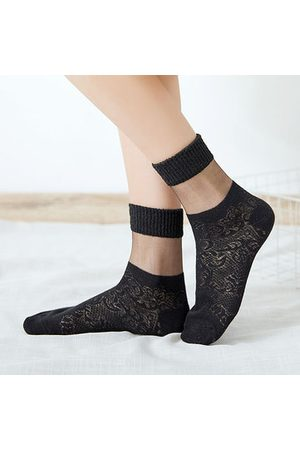 Newchic Hollowed-out Mesh Cotton Middle Tube Socks