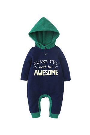 Newchic Letter Printed Baby Winter Romper