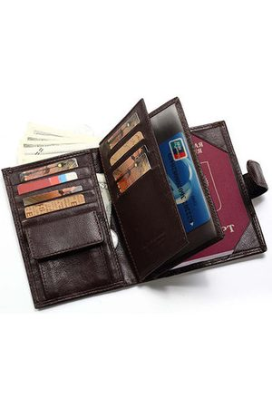 Newchic Men Wallets - Large Capacity Vintage Genuine 12 Card Slots Trifold Wallet