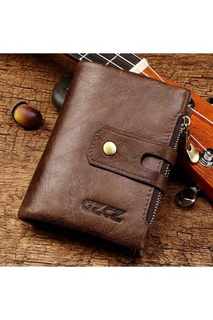Newchic Vintage Genuine Leather 14 Card Slots Trifold Wallet