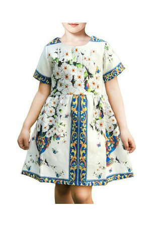 Newchic Printed Girls Party Dress