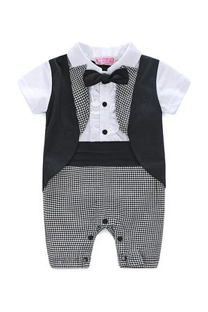 Newchic Baby Rompers - Formal Suit Style Baby Boy Romper
