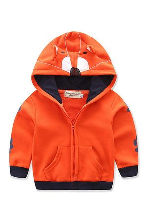 Newchic Cartoon Fox Orange Boys Jackets