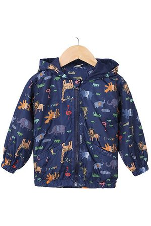 Newchic Boys Jackets - Hooded Dinosaur Printed Baby Boys Jackets