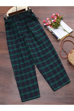 Newchic Plaid Print Pants For Women