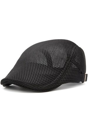 Newchic Summer Mesh Beret Cap Adjustable Solid Color Newboy Hat