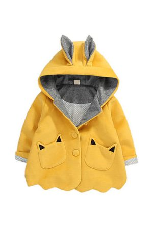 Newchic Cute Ear Easter Baby Girls Coats