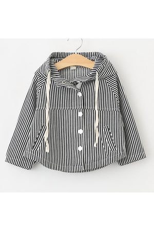Newchic Striped Girls Spring Autumn Hooded Coat