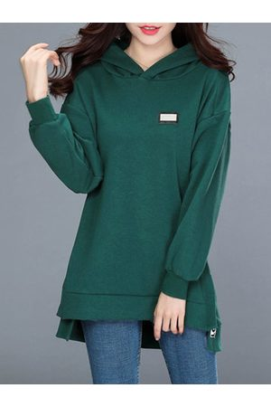 Newchic Casual Solid Color Long Sleeve Hoodies