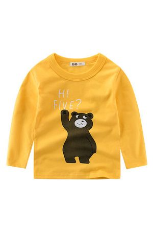Newchic Bear Boys Long Sleeve Tops