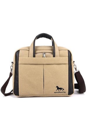 Newchic Men Laptop Bags - Men Canvas Classic Messenger Crossbody Bag Business Handbag