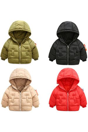 Newchic Boys Winter Jackets - Kids Winter Solid Color Jacket
