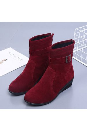 Newchic Buckle Suede Casual Boots