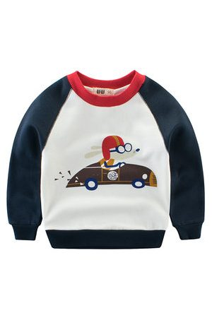 Newchic Car Printed Boys Sweatshirts