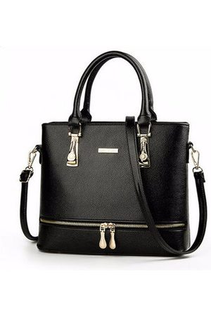 Newchic Women PU Leather Handbags Casual Chain Large Capacity Shoulder Bags