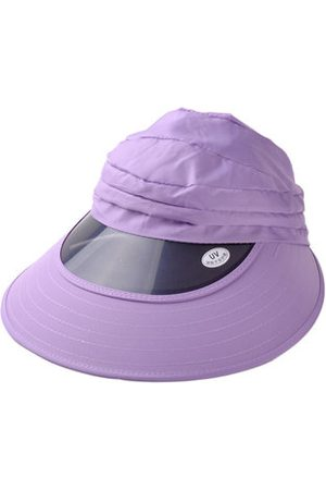 Newchic Women Girls Sun Visor Wide Brim Foldable Sun UV Protect Gardening Hat Beach Cap