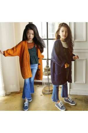 Newchic Kids Long Coats Sweaters with Pockets