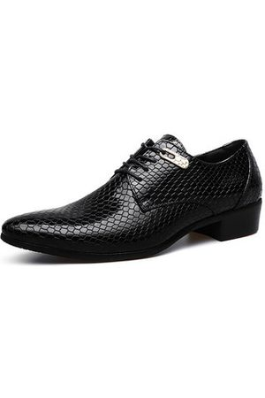 Newchic Men Formal Shoes - Men Serpentine Classic Pointed Toe Lace Up Formal Dress Shoes