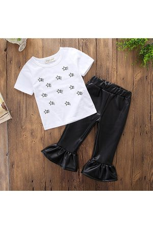 Newchic Girls T-shirt + PU Leather Pants