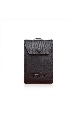 Newchic 3 Card Slots Card Holder Genuine Leather Key Holder Cowhide Leather Car Key Holder