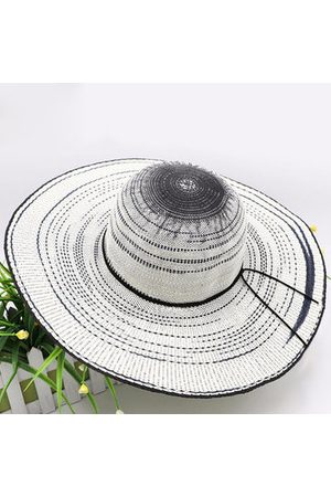 Newchic Women Hats - Wide Brim Outdoor Sun Hats Casual Vacation Straw Top Hats