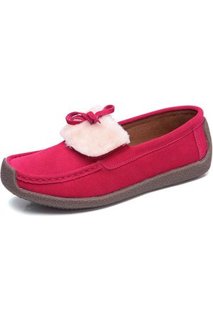 Newchic Furry Bowknot Flat Loafers