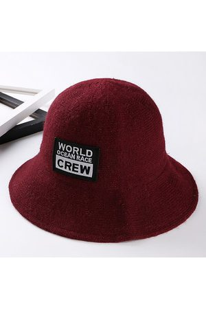 Newchic Imitation Wool World Pattern Bucket Hats