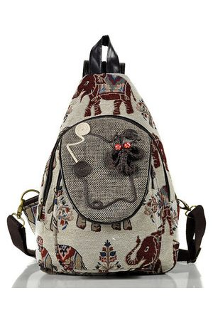 Newchic Women Shoulder Bags - National Style Cotton and Linen Chest Bag